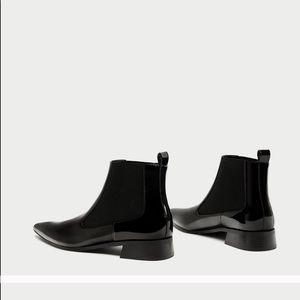 7edce5fdac8a Zara Shoes - NET Black patent ZARA Chelsea boot